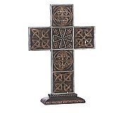Roman Gifts 13 inch Standing Bronze Celtic Cross