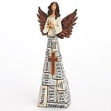 Roman Giftware 10 inch Crossword Angel Statue
