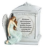 Roman Giftware 8 inch Memorial Urn with Angel