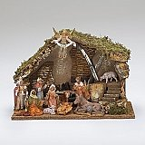 Fontanini Nativity 5 inch scale 11 piece set with stable