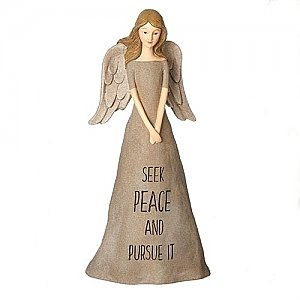 Roman Gifts 10 inch Seek Peace Angel Statue